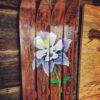 Wooden Columbine Wall Art