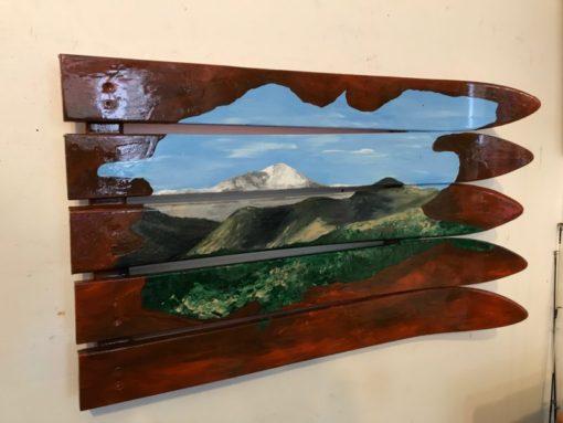 Garden of the Gods & Pikes Peak Hand Painted Ski Wall Art