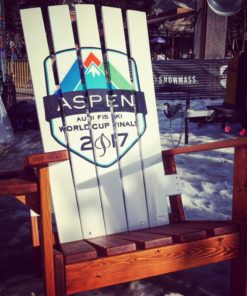 "US ski team XXL chair Colorado Ski Furniture XXL 72"" (6 feet) Tall Giant Oversize Adirondack chair"