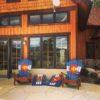 Colorado Backyard Starter Set Special Deal: 2 CO ski chairs & a CO ski cornhole set!