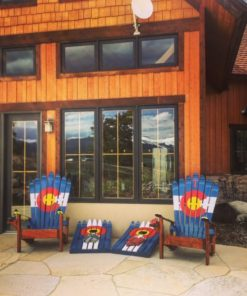 Colorado Backyard Starter Set Special Deal: 2 CO ski chairs & a CO ski cornhole set!