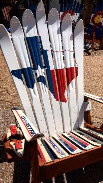 Texas Flag Adirondack Ski Chair
