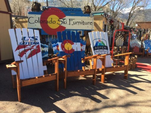 "XXL Colorado Flag 72"" (6 feet) Tall Giant Oversize Adirondack chair"