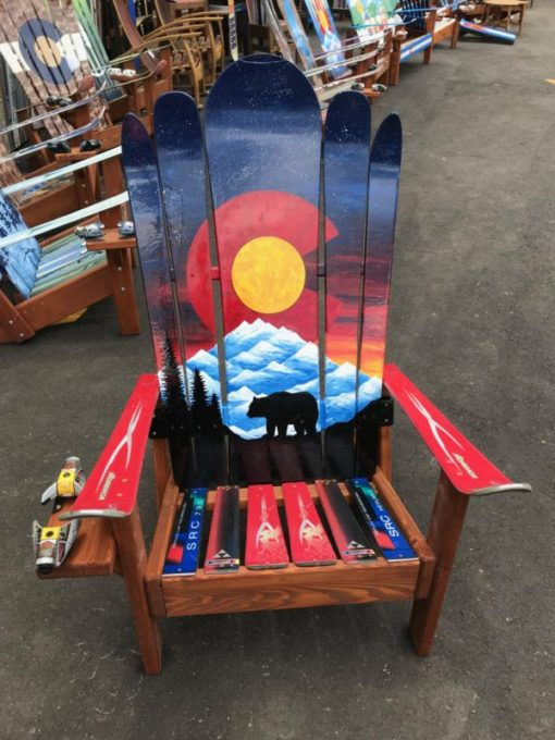 Colorado Bear Mountain Mural Hybrid Ski & Snowboard Adirondack Chair