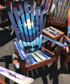 Marbled Bluescale Colorado Flag Mama Bear & Cub & Moon Ski Chair