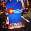 Colorado Flag Mountain Stencil Adirondack Snowboard Chair