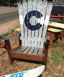 Fine Marbled Greyscale Colorado Flag Adirondack Ski Chair Short Links Chair Design For Home Short Linksinfo