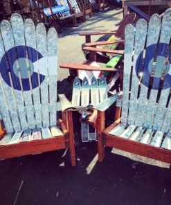 Astounding Marbled Greyscale Colorado Flag Adirondack Ski Chair Short Links Chair Design For Home Short Linksinfo