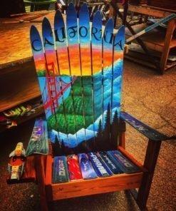 California Napa San Fran Tahoe Mural Adirondack Ski Chair