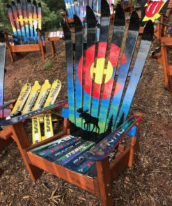 Colorado Flag Northern Lights Moose chair
