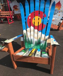 Colorado Flag Blue Sky Mountain Mural chair