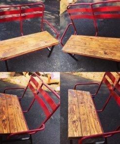 Repurposed Ski Chairlift Bench