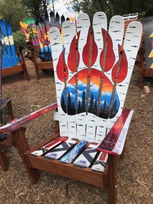 Aspen Bear Claw Mural Sunset Chair