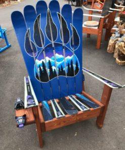 Bear Claw Night Sky Mountain Mural Chair