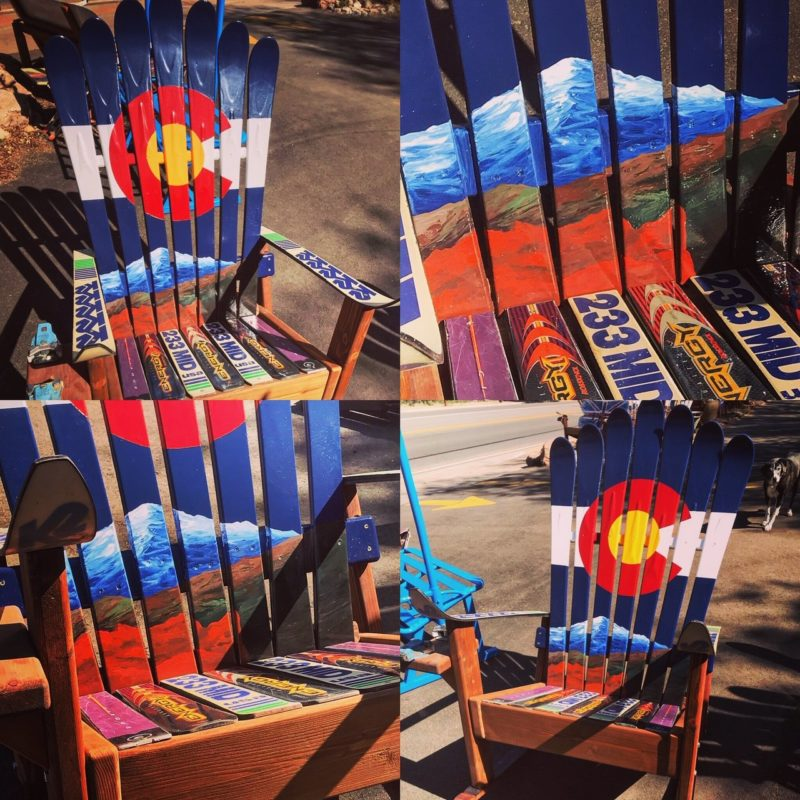 Garden Of The Gods Amp Pikes Peak Co Flag Chair