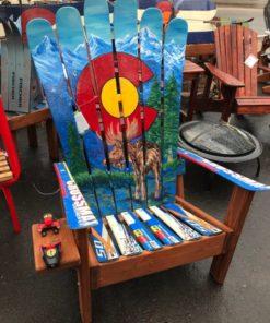 Colorado Mountain Moose Mural Adirondack Ski Chair