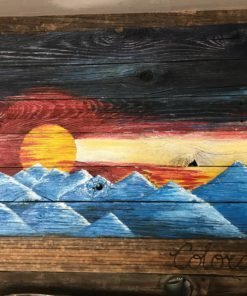 Sunset Barnwood Wall Art