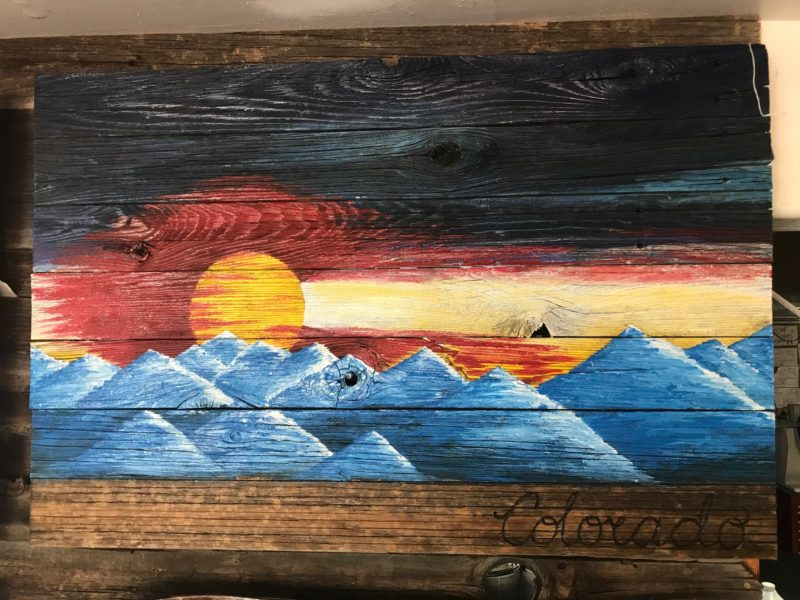 Colorado Sunset Barnwood Flag (small)