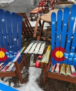 Colorado Mountain Snowflakes Adirondack Ski Chair