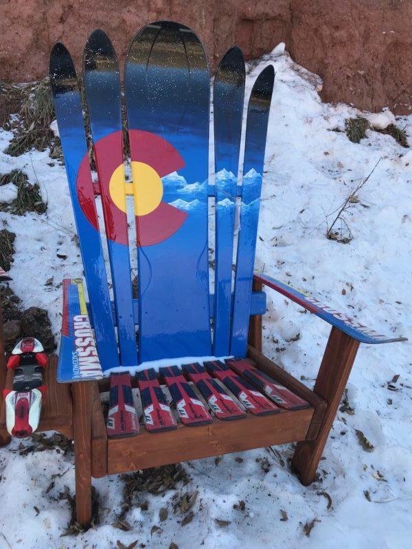 Two Hybrid Ski Amp Snowboard Colorado Snowy Mountains