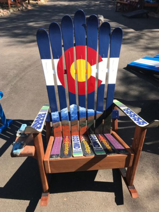 Garden of the Gods & Pikes Peak CO Flag Chair