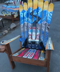 VW BUS HAPPY TRAILS MOUNTAIN MURAL SKI CHAIR