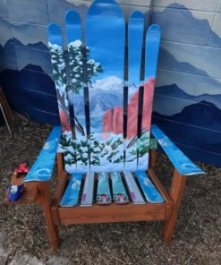 Garden of the Gods and Pikes Peak Mural Adirondack Ski Chair
