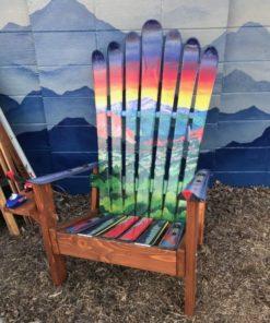 Garden of the Gods and Pikes Peak Mural Adirondack Ski Chair