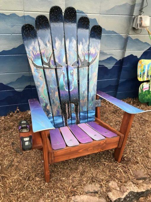 Mystic Moose Mural Adirondack Ski Chair