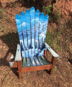 Alps Mountain Mural Adirondack Ski Chair