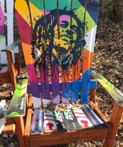 Fine Bob Marley Rasta Art Adirondack Ski Chair Pabps2019 Chair Design Images Pabps2019Com