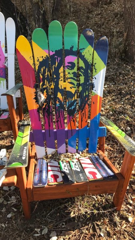 Fabulous Bob Marley Rasta Art Adirondack Ski Chair Pabps2019 Chair Design Images Pabps2019Com