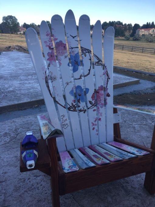 Yin/Yang Flowers Adirondack Chair