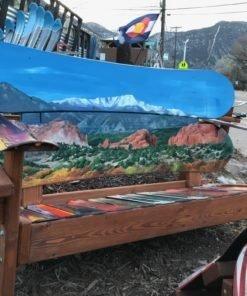 Garden of the Gods & Pikes Peak Mural Adirondack Snowboard Bench