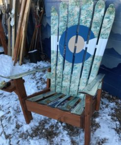 Miraculous Us Army Camoflauge Themed Colorado Flag Adirondack Ski Chair Short Links Chair Design For Home Short Linksinfo