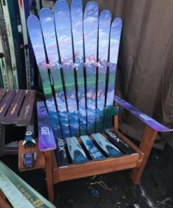 Grand Teton National Park Hand Painted Adirondack Ski Chair