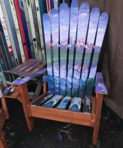 Grand Teton National Park Adirondack Ski Chair