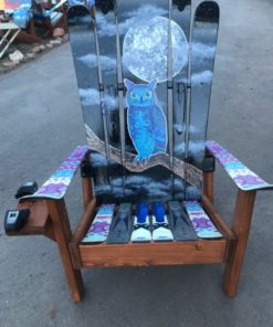 Mystic Moon Owl Hybrid Ski & Snowboard Adirondack Chair
