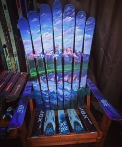 Grand Teton National Park Hand Painted Adirondack Ski Chair