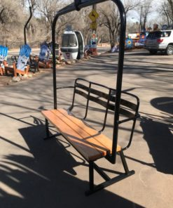Ski Lift - Repurposed Chairlift Bench - Black