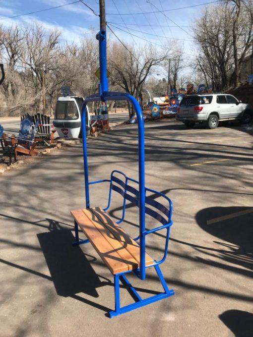 Ski Lift - Repurposed Chairlift Bench - Blue