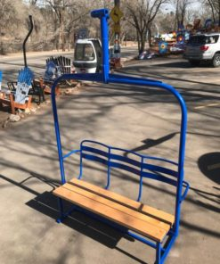 Ski Lift - Repurposed Chairlift Bench - Blue