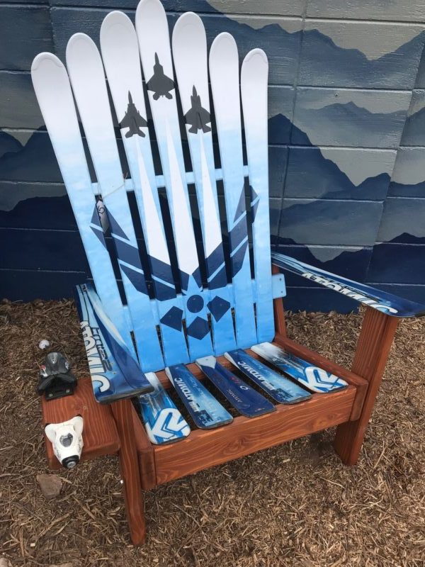 Awesome Usaf Air Force Fighter Jets Themed Adirondack Ski Chair Beatyapartments Chair Design Images Beatyapartmentscom