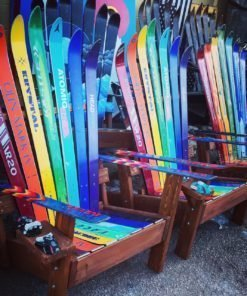 Rainbow ski chairs