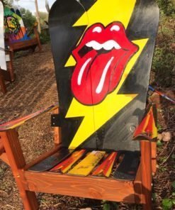 Rolling Stones Adirondack Snowboard Chair