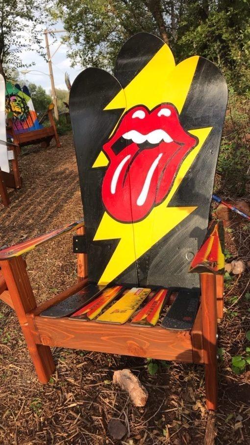Rolling Stones Adirondack Snowboard Chair