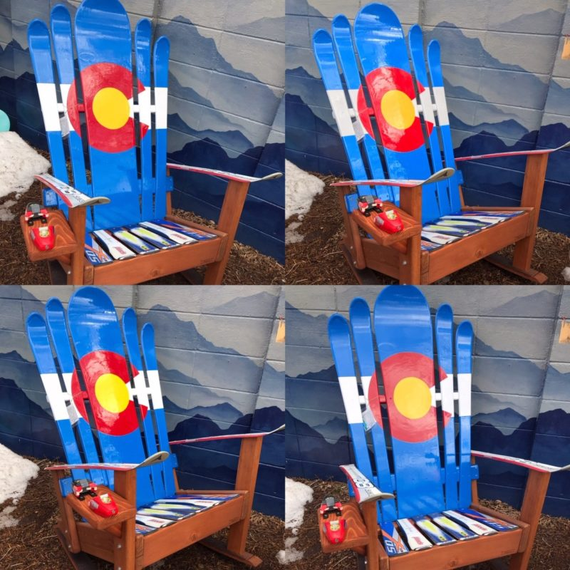 Groovy Set Of 4 Hybrid Ski Snowboard Colorado Flag Adirondack Rocking Chairs Pdpeps Interior Chair Design Pdpepsorg