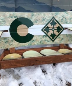 4th ID - 4th Infantry Division - Colorado Camo Snowboard Bench