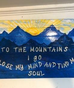 Into the Mountains Ski Wall Art
