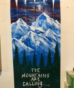The Mountains are Calling Ski Wall Art